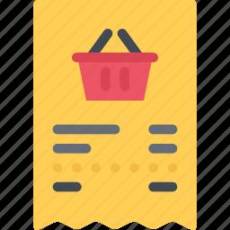 check, commerce, online shop, shop, supermarket icon