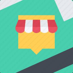 commerce, location, online shop, shop, supermarket icon