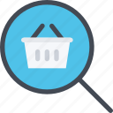 commerce, online shop, search, shop, supermarket icon