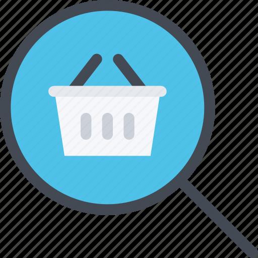commerce, online shop, search, shop, supermarket icon