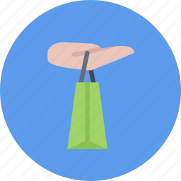 e-commerce, hand, online shopping, pocket, sale, shop, shopping icon
