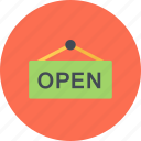 e-commerce, online shopping, open, sale, shop, shopping icon
