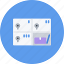 boxes, e-commerce, online shopping, safe, sale, shop, shopping icon