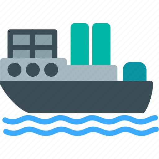 cargo, ocean, ship, shipping, transport, travel, water icon