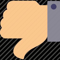 bad, dislike, down, hand, thumb, unlike icon