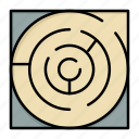 labyrinth, map, maze, pattern, strategy icon