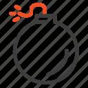 bomb, explosion, explosive icon