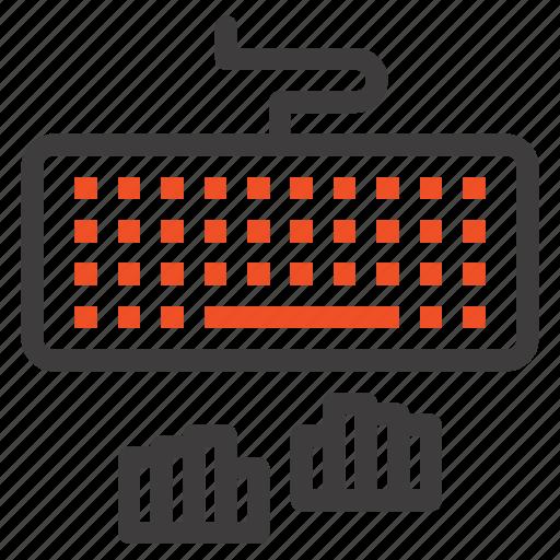 interface, keyboard, type, typing icon