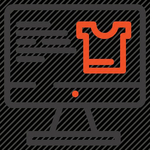 computer, monitor, screen, shopping icon