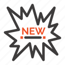 ecommerce, new, shopping, tag icon