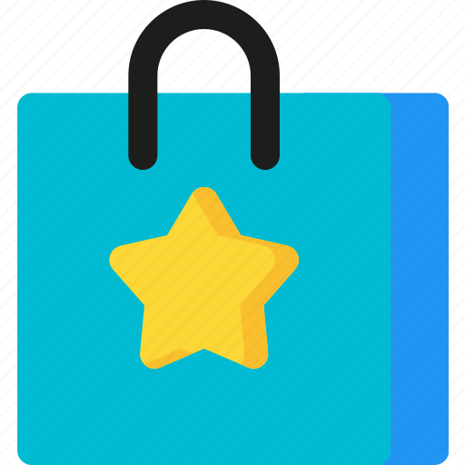 bag, buy, market, shop, shopping, star, store icon