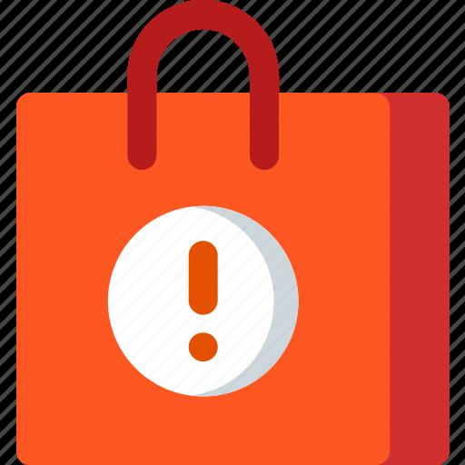 bag, buy, error, market, shop, shopping, store icon