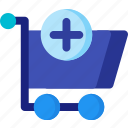 add, basket, cart, market, shop, shopping, store icon