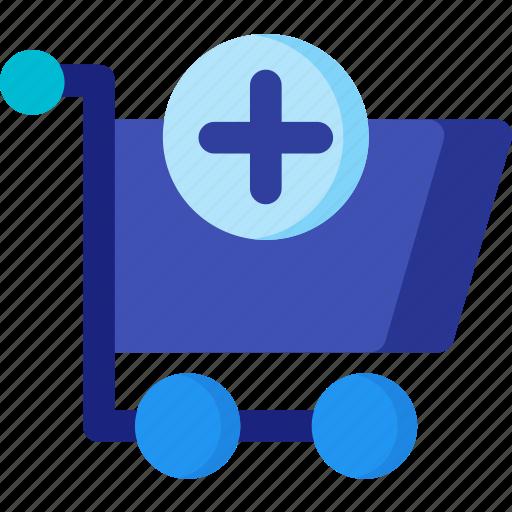 add, basket, cart, market, shop, shopping, store icon