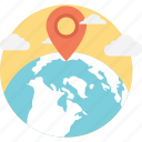 geo target, global location, map locator, map pin, navigation icon