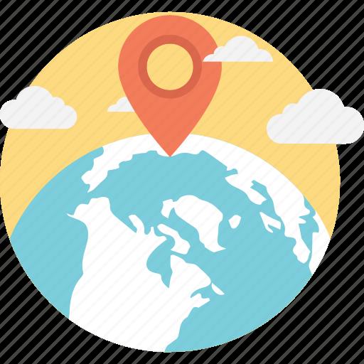 geo target, global location, map locator, map pin, navigation icon