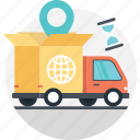 cargo, delivery truck, global delivery, international delivery, international shipping icon