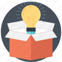 creative idea, innovation, new ideas, smart solution, think outside the box icon