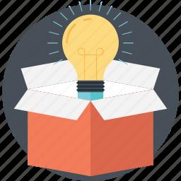 creative idea, innovation, new ideas, smart solution, think outside the box icon