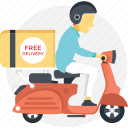 cargo services, delivery boy, fast delivery, free delivery, free shipping icon