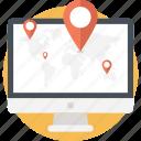gps navigation, location targeting, online gps locator, online map, online navigation icon