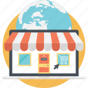 buy online, ecommerce, estore, online shop, shopping web icon