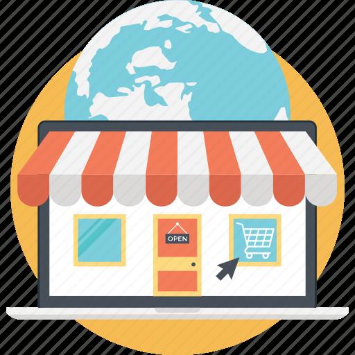 buy online, ecommerce, estore, online shop, shopping web icon