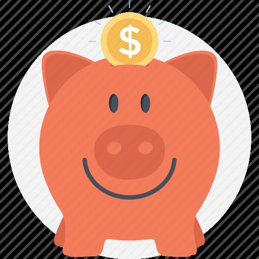 dollar, money, piggy bank, save money, savings icon