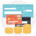 alternative payments, coin stack, credit cards, finance, payment methods icon