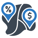 buy, discount, location, map, shop, shopping icon