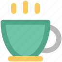 beverage, coffee cup, drink, hot coffee, hot drink, hot tea, tea cup icon