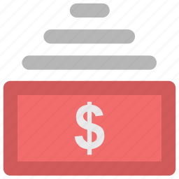 banknotes, currency, currency notes, dollars, money, paper notes icon