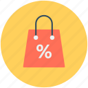 discount, online shopping, shopper bag, shopping bag, tote bag icon