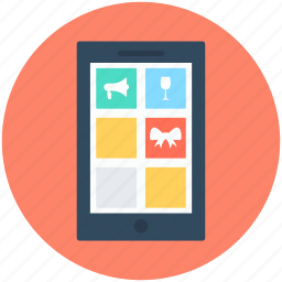 mobile, mobile apps, mobile layout, mobile menu, mobile template icon