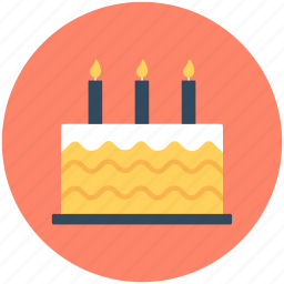anniversary cake, birthday cake, cake, candles, dessert icon