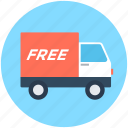 cargo, delivery van, free delivery, free shipping, logistics truck icon