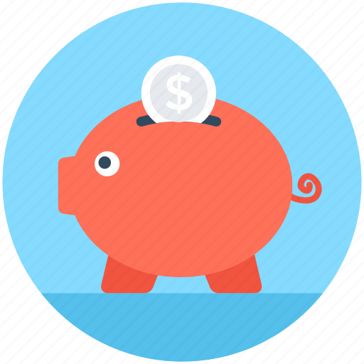 cash bank, money bank, money box, penny bank, piggy bank icon