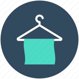 bathing, hanger, towel, towel on hanger, wiping towel icon