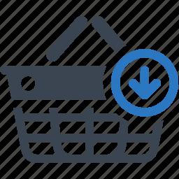 buy, ecommerce, shopping basket icon