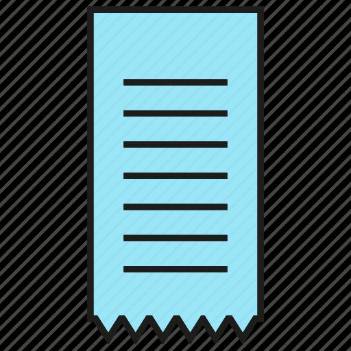 check, cheque, file, paper, receipt icon