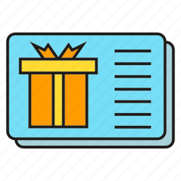 card, gift card, gift voucher icon