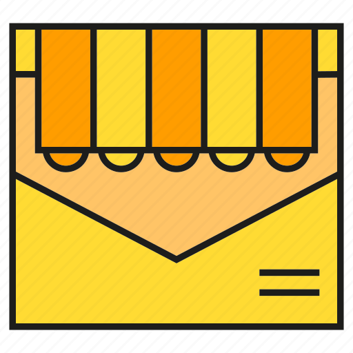 email, envelope, mail, marketing, send, shop, shopping icon