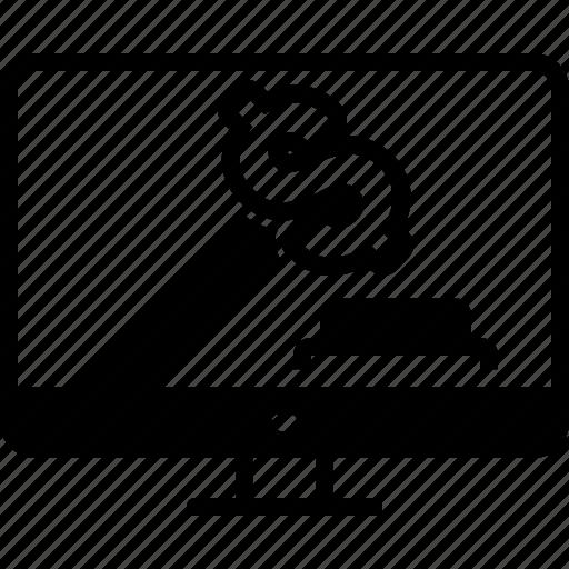 bid, bidding, online icon