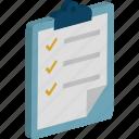 appointment, checklist, list, memo, shopping list icon