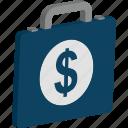 briefcase, money bag, portfolio, satchel bag, suitcase icon