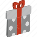 box with ribbon, gift, gift box, present, present box, wrapped gift icon