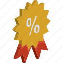 discount badge, discount offer, discount tag, offer, percentage icon