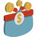 currency sack, dollar sack, money sack, wealth, money bag icon