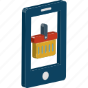 basket, m commerce, online shopping, shopping app, shopping basket icon