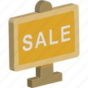 ad board, advertisement, sale, sale board, signboard icon